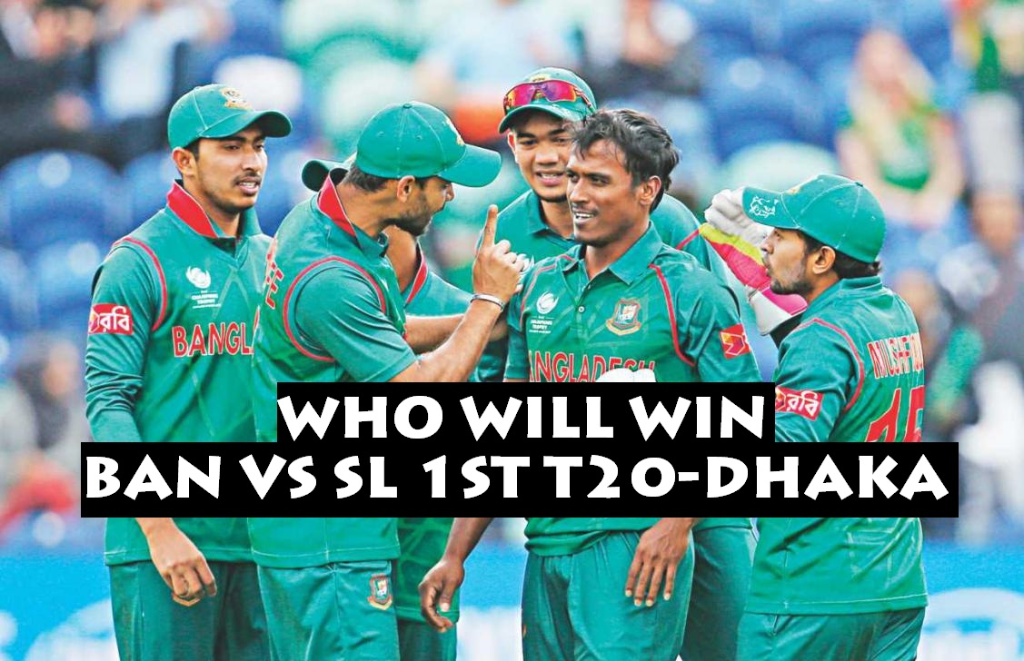 1st Match, Bangladesh vs Sri Lanka