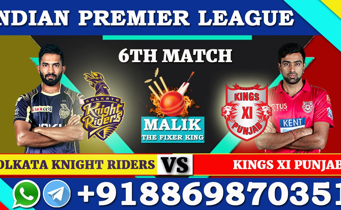 6th Match KKR VS KXIP
