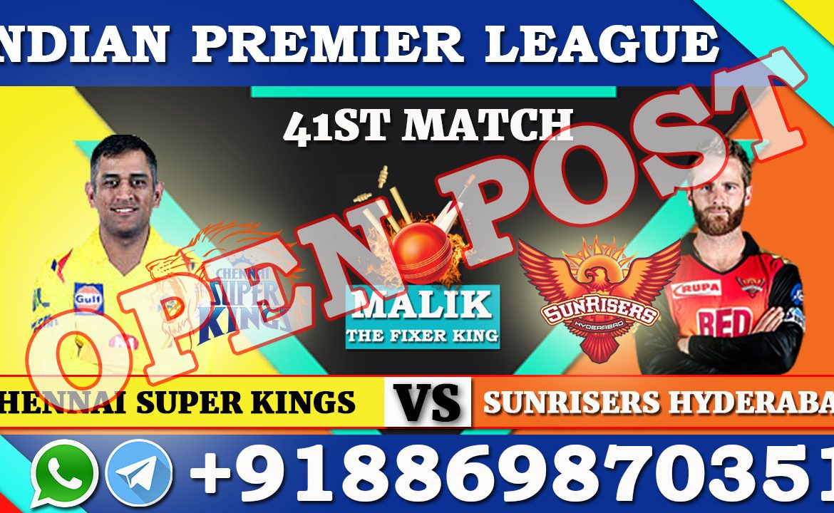 41ST Match CSK VS SRH