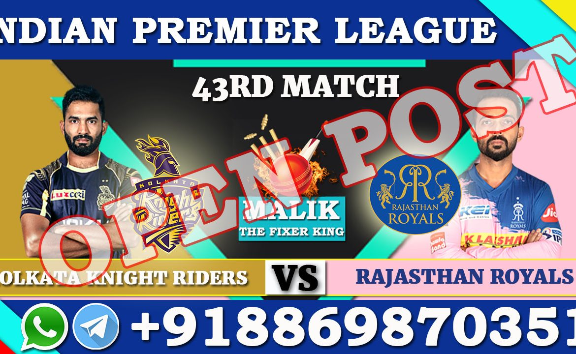 43RD Match KKR VS RR