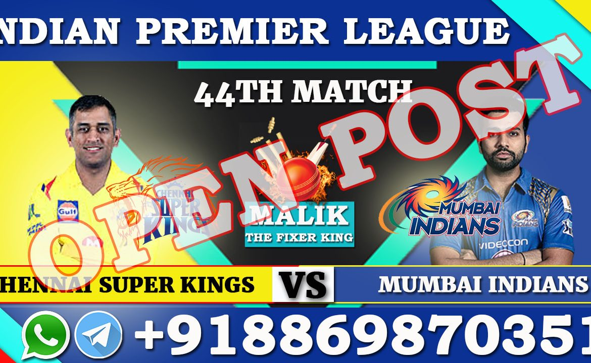 44TH Match CSK VS MI