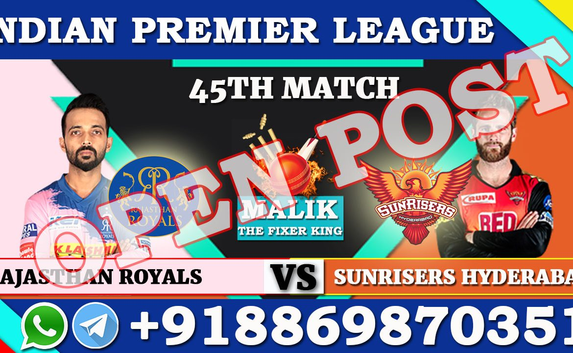 45TH Match RR VS SRH